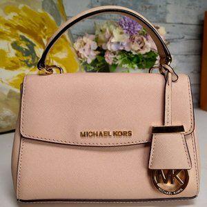 MICHAEL KORS Rose Pink Mini Ava Crossbody Bag